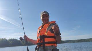 Рыбалка на водохранилище 01 08 21 Ловим окуней