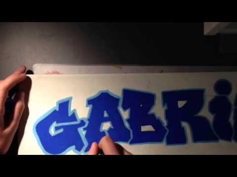 Toile graffiti Gabriel - YouTube