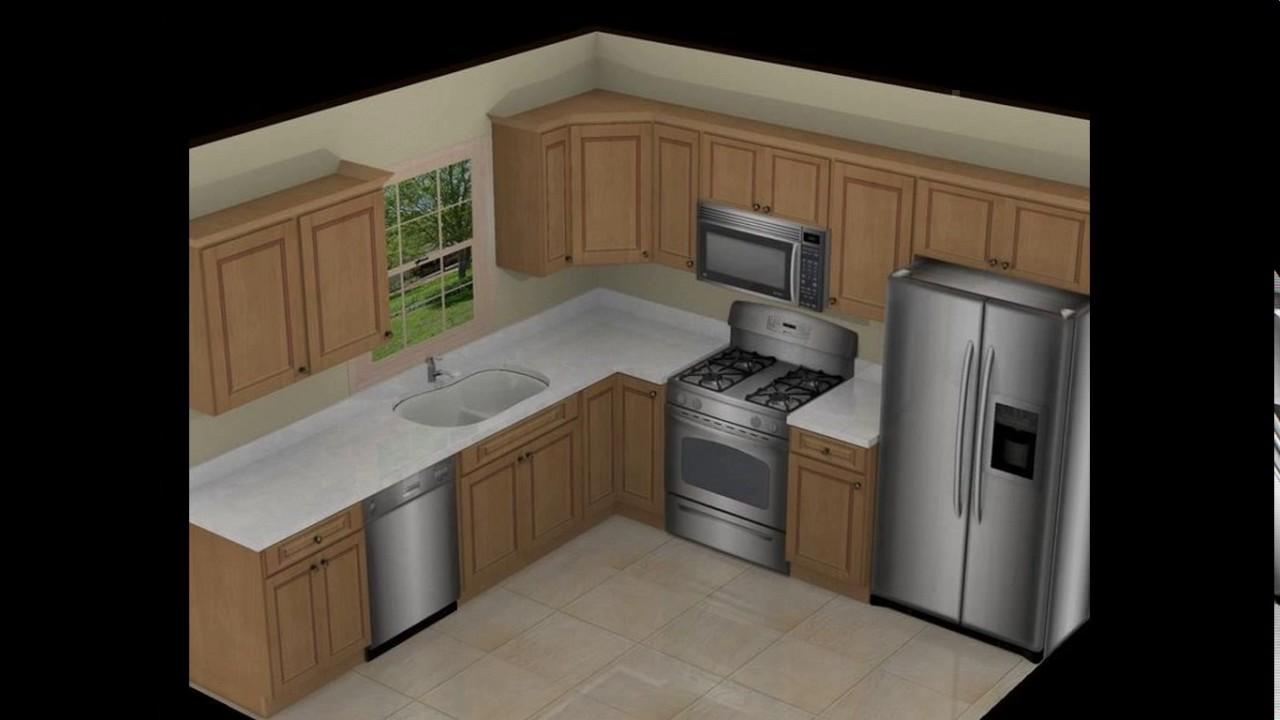 10x10 L Shaped Kitchen Designs Youtube