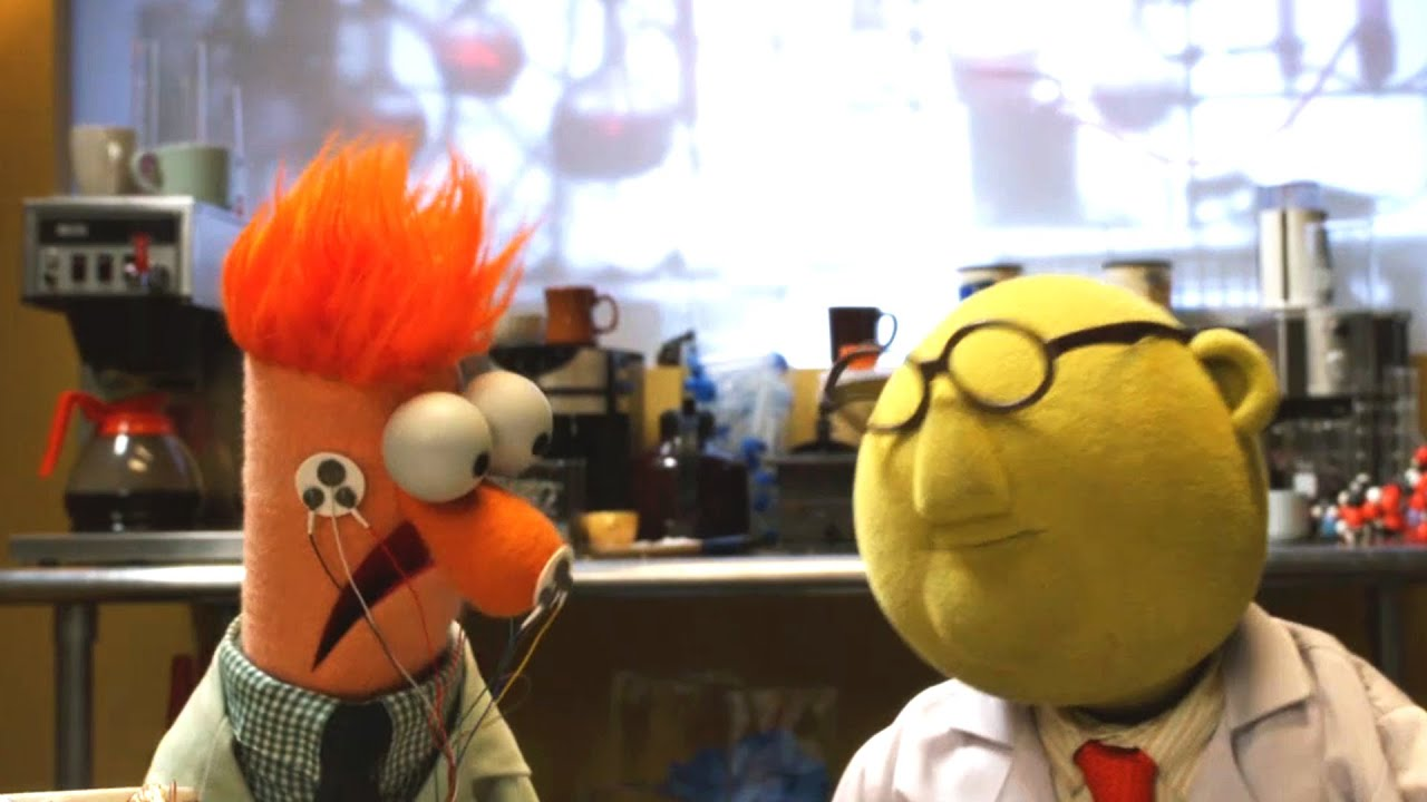 Flowers On The Wall With Bunsen And Beaker Muppets Music Video The Muppets Youtube