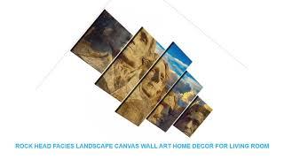 Rock head facies Landscape Canvas Wall Art Home Decor For Living Room