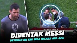 """Jangan Ganggu Teman Temanku"" Lihatlah Cara Messi Melindungi Rekannya dari Petugas Keamanan Brazil"