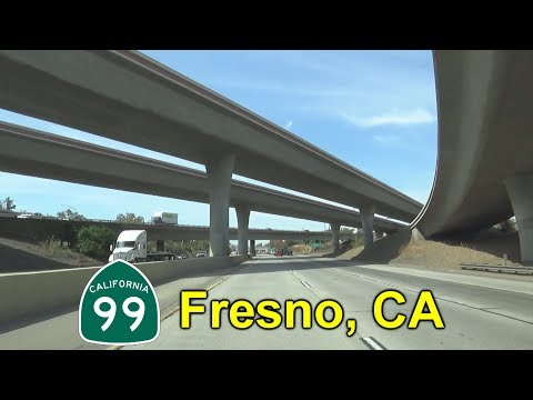 State Route 99 North In Fresno, California
