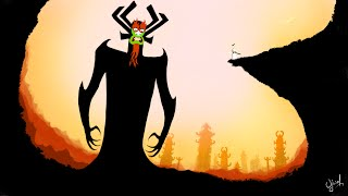Samurai Jack vs Aku - Time-lapse Drawing - Procreate in iPad 2