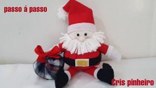 Faça você mesmo um lindo papai Noel fuxico