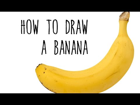 How To Draw A Banana Drawing Fruits With Kids Youtube