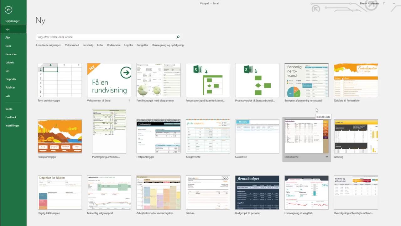 Excel kursus #1 | Introduktion til Excel