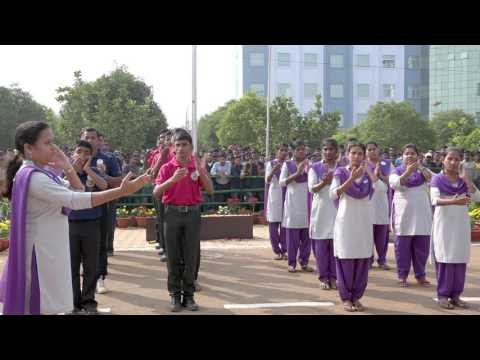 The Silent Indian National Anthem JANA GANA MANA by deaf & dumb Student @Centurion University
