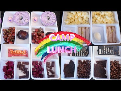 Colors Not On The Rainbow Week of Theme Lunches! *Camp / Summer Lunches!
