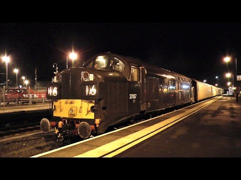 Nocturnal Trains at Carmarthen, West Wales, 24/01/2017
