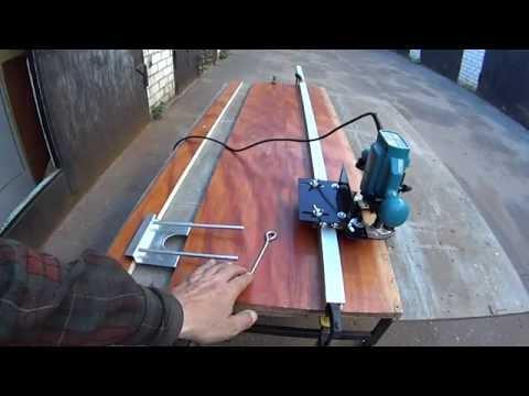 31 Как ровно фрезеровать ручным фрезером длинные пазы по направляющей шине