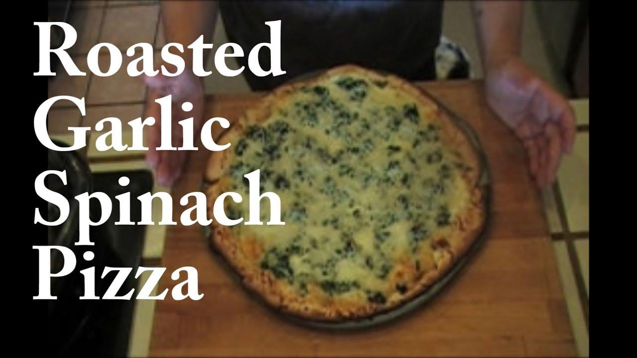 recipe: garlic spinach pizza [24]