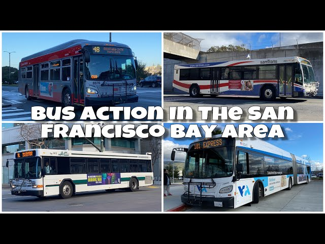[PART 1] Bus Action In The San Francisco Bay Area (1/13/20)
