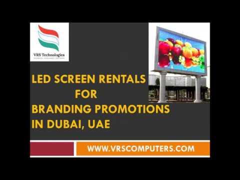 Led screen rentals for branding promotions in Dubai UAE