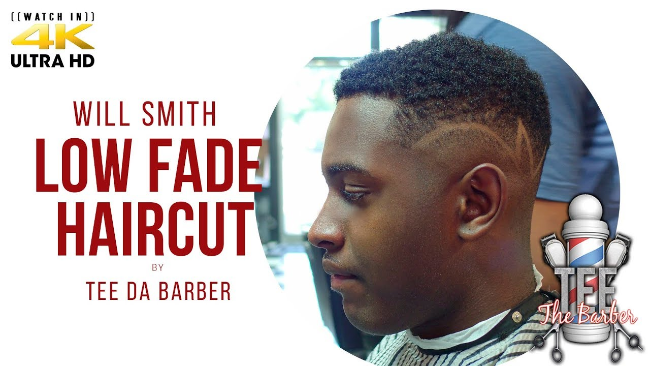 Haircut Tutorial Will Smith Fade With Design Youtube