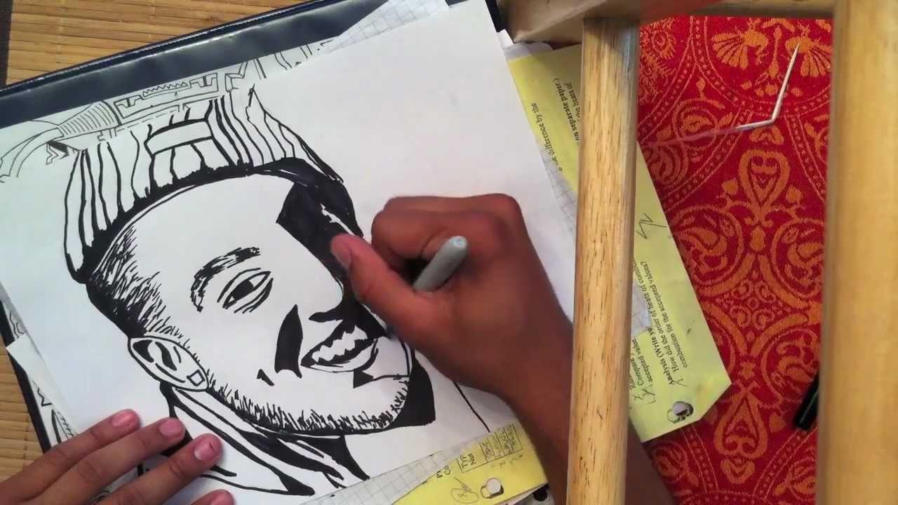 Mac Miller Sharpie Drawing Time Lapse
