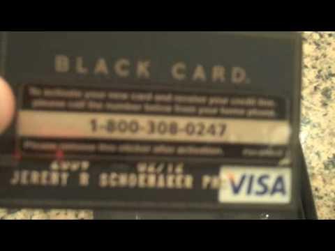 fed black card Visa Black Card Unboxing - YouTube