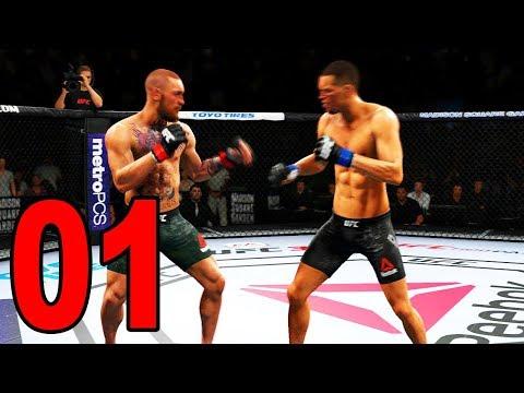 UFC 3 Gameplay - CONOR MCGREGOR VS NATE DIAZ! (UFC 2018)