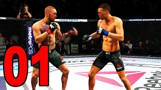 UFC 3 Gameplay - CONOR MCGREGOR VS NATE DIAZ! (UFC 2018)