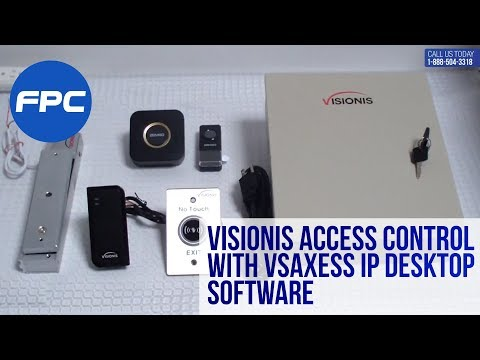 Wiring Video for Visionis Access control with Vsaxess IP Desktop software