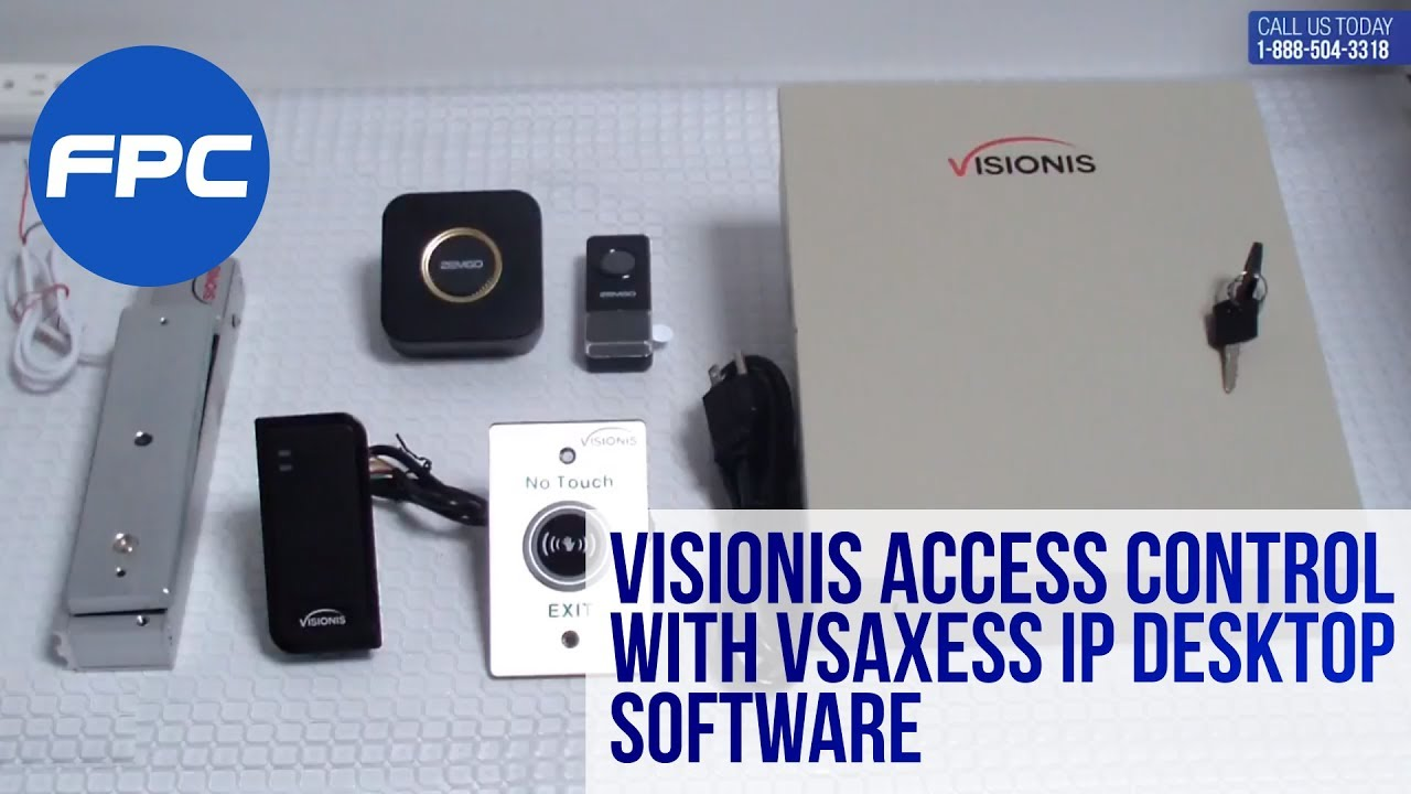wiring video for visionis access control with vsaxess ip desktop software [ 1280 x 720 Pixel ]