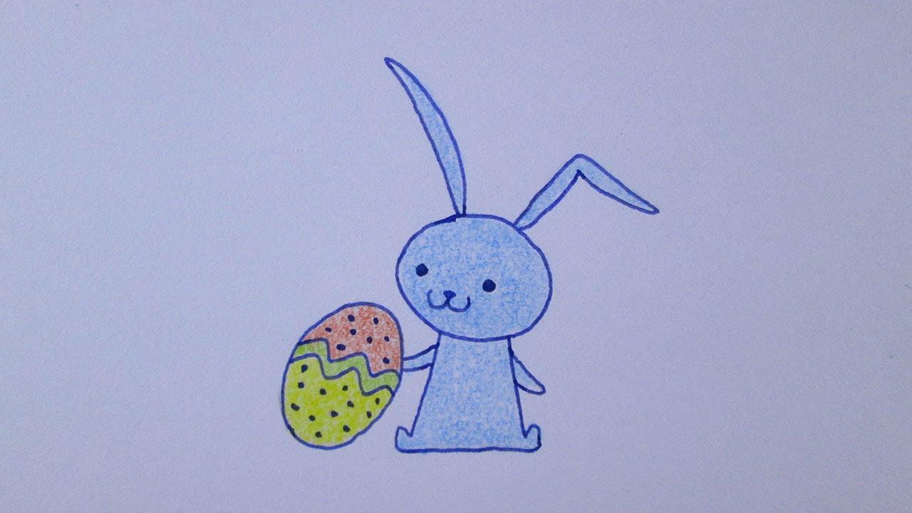 Cómo Dibujar Un Conejo De Pascua Kawaii
