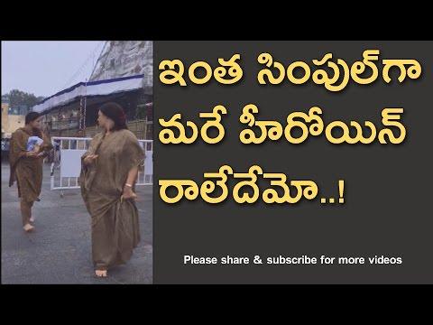 Telugu actress looking simple exclusive video