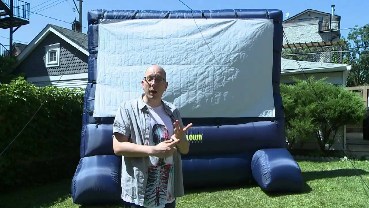 inflatable outdoor movie screen is awesome youtube. Black Bedroom Furniture Sets. Home Design Ideas