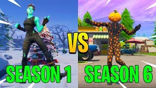 Evolution Of Fortnite Dances (Season 1-6) *Old Nostalgia*