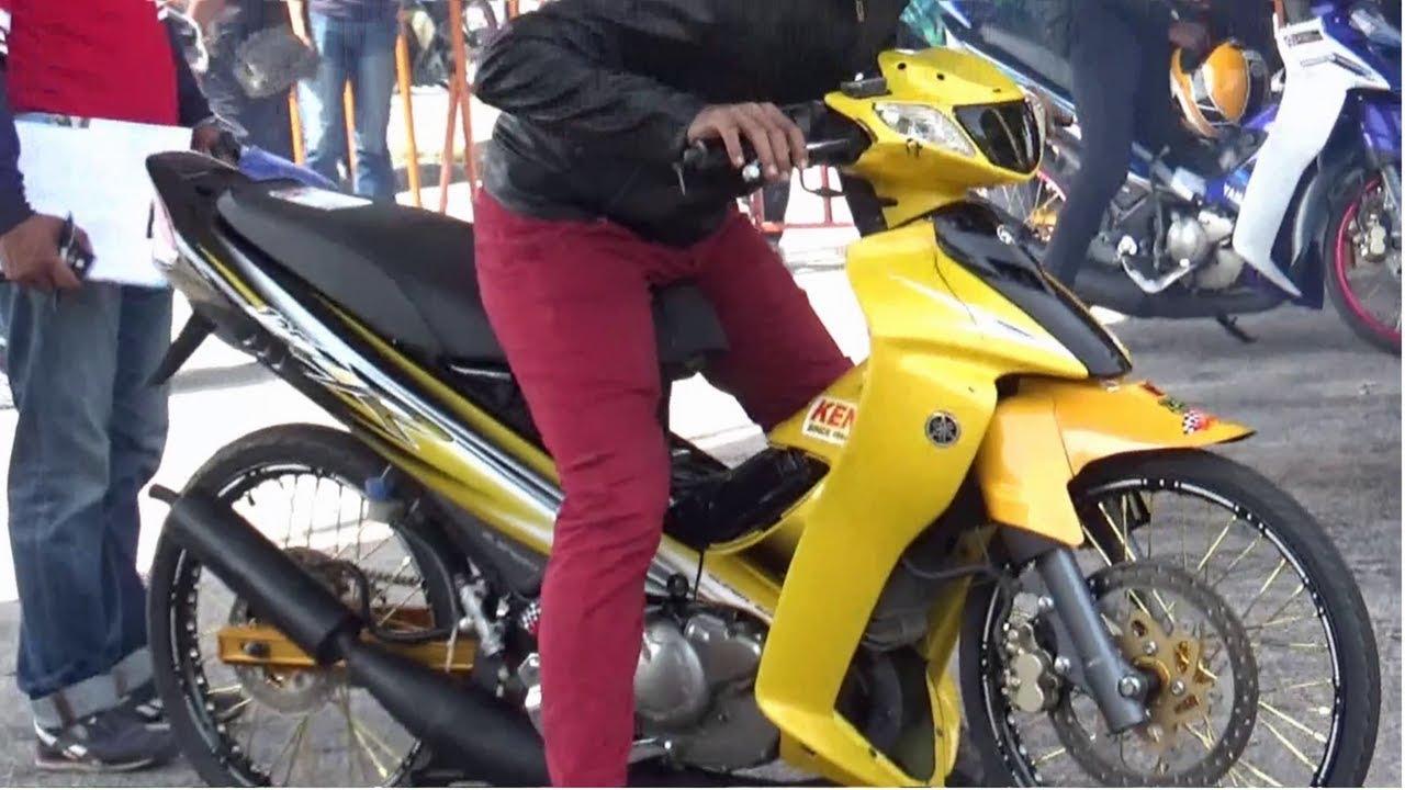 DRAG BIKE 2t 125 150 std body Drag Racing Kubang Menerong Ogos 2018