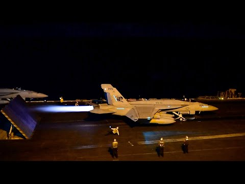 Carrier Air Wing 2 Conducts Night-Time Flight Operations Aboard USS Carl Vinson (CVN 70)