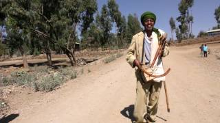 Man Playing A Masenqo in Ethiopia