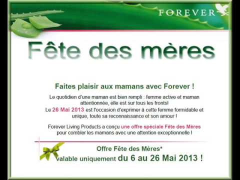 offre promotionnelle sp cial fete des m res by forever lp. Black Bedroom Furniture Sets. Home Design Ideas