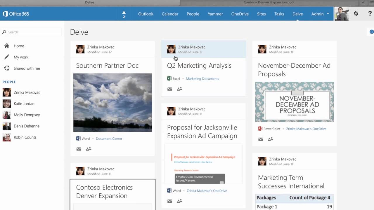 review of microsoft office delve for sharepoint office 365