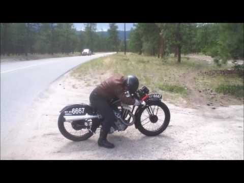 1933 AJS 350 first ride test