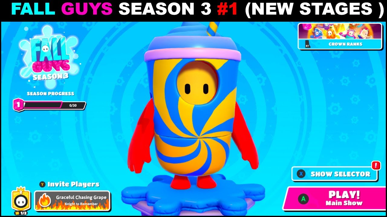Download FALL GUYS SEASON 3 NEW STAGES ! FALL GUYS SEASON 3 GAMEPLAY #gameplay1