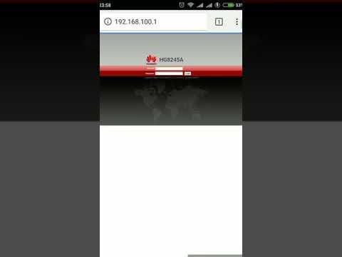 Cara blokir user di modem Indihome HG8245A lewat android