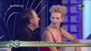 ¡Guillermo Francella y Luisana Lopilato relatan su beso en ficción! - Susana Giménez 2017