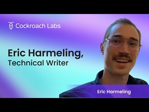 Roacher of the Week:  Eric Harmeling, Technical Writer