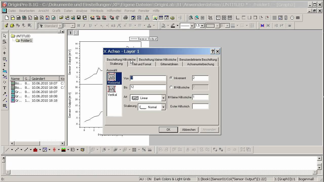 OriginLab® Origin: Zusammenfügen und Anordnen von Diagrammen Teil1 ...