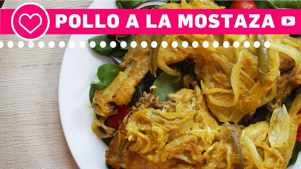 Pollo a la mostaza f cil comida saludable youtube - Platos de pollo faciles ...