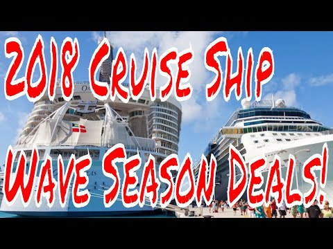 2018 Cruise Deals It's the Wave Season! Offers on Cabins WIFI Drink Packages Cruise Sales