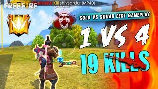 19 Kill in Solo vs Squad Best Gameplay - Garena Free Fire- Total Gaming