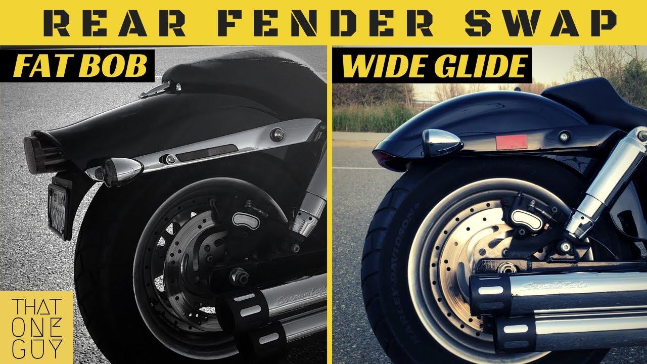 2013 Fat Bob to Wide Glide - Rear Fender Swap - Fat Bob Mod #12