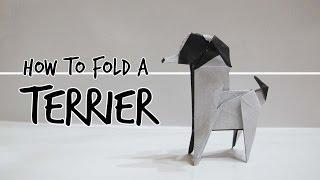 How To Fold An Origami Dog - Terrier (fuchimoto Muneji)