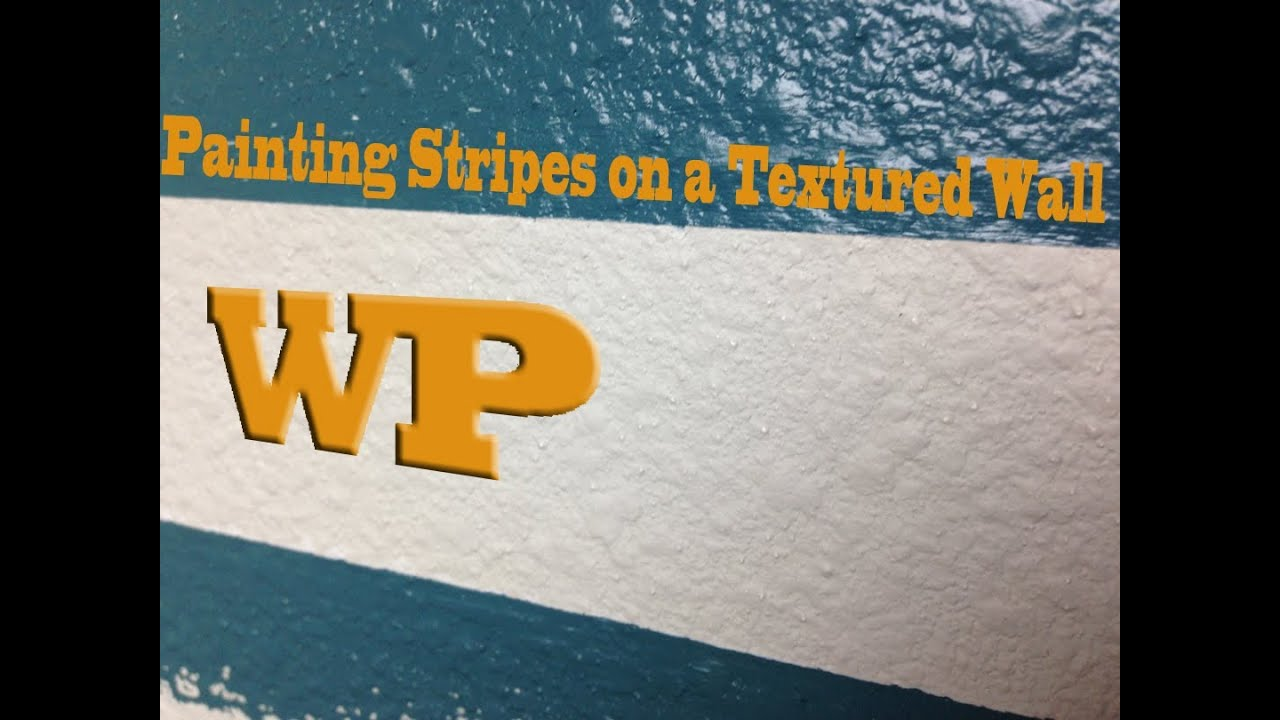 Diy Minute How To Paint Stripes On A Textured Wall