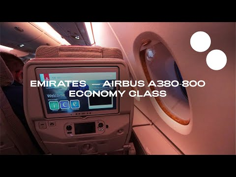 EMIRATES A380-800 UPPER DECK NEW ECONOMY EK72 I PARIS - DUBAI