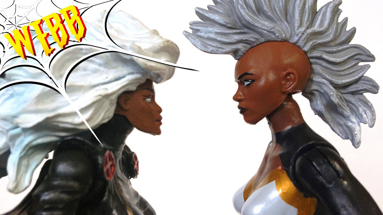 STORM Toy Biz Vs Hasbro Marvel Legends Action Figure Comparison