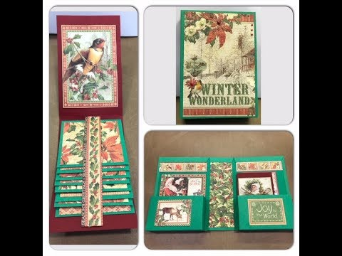 DIY Book Box With Cascading Mini Album Gift Idea