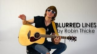 How to Play Blurred Lines by Robin Thicke on Guitar